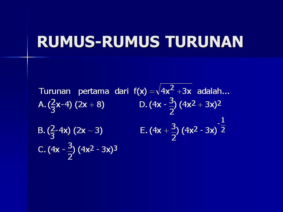 RUMUS-RUMUS TURUNAN