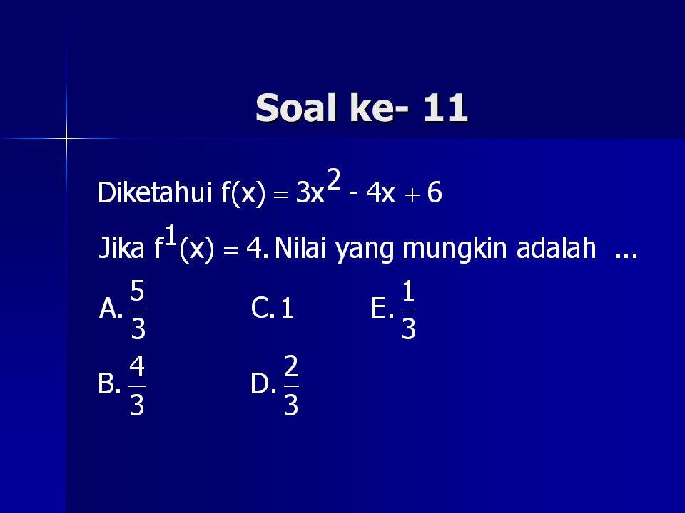 Soal ke- 11