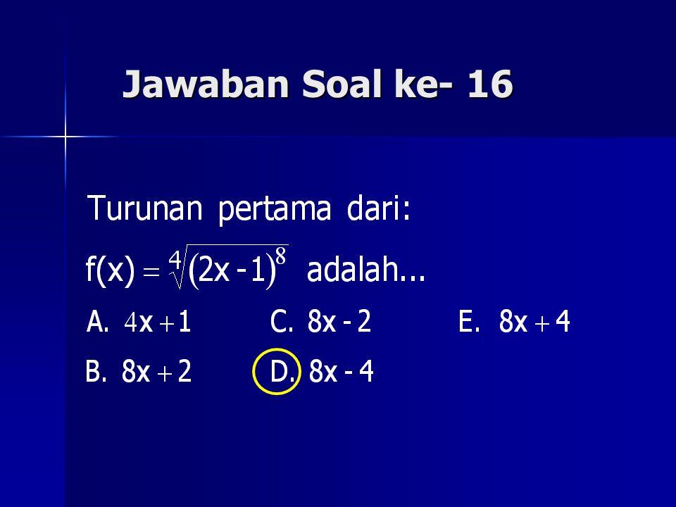 Jawaban Soal ke- 16