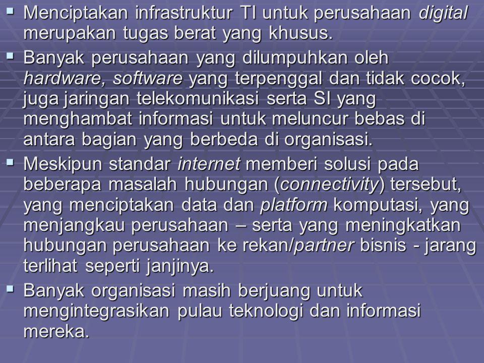  Menciptakan infrastruktur TI untuk perusahaan digital merupakan tugas berat yang khusus.  Banyak perusahaan yang dilumpuhkan oleh hardware, softwar
