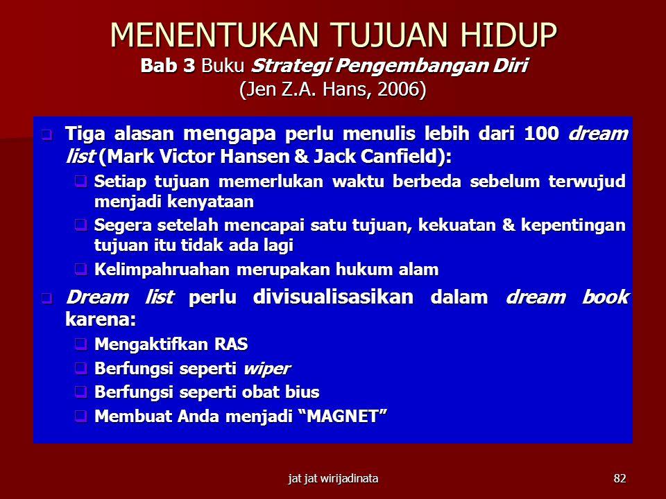 jat jat wirijadinata81 Habit #2 Begin With the End in Mind Halaman 25-26 Buku Strategi Pengembangan Diri (Jen Z.A. Hans, 2006)  Pada tahun 1979, wisu