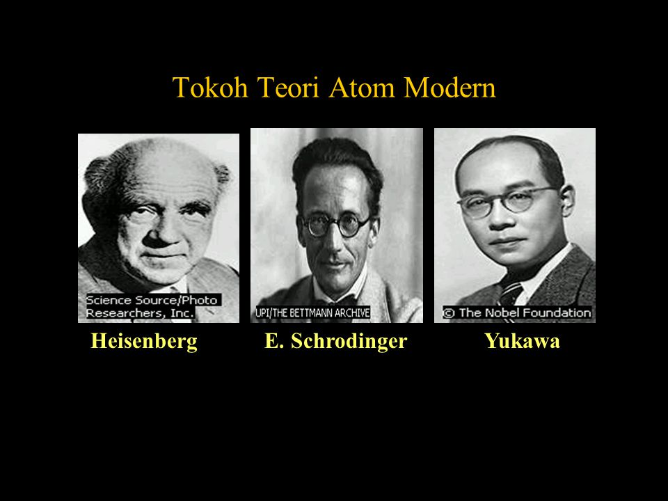 Tokoh Teori Atom Modern Heisenberg E. Schrodinger Yukawa