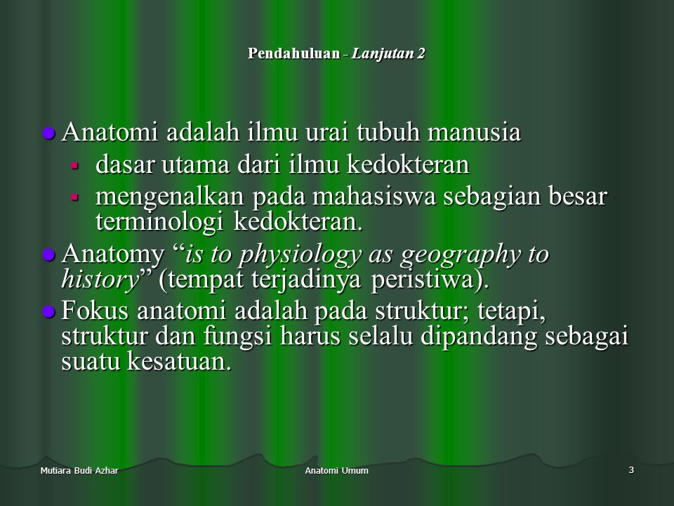 Persendian (articulatio) back