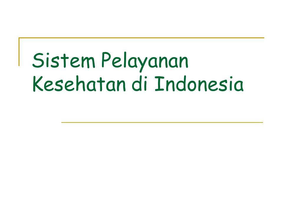 Visi Pembangunan Kesehatan  Gambaran keadaan masyarakat Indonesia di masa depan atau Visi yang ingin dicapai melalui pembangunan kesehatan dirumuskan dalam INDONESIA SEHAT 2010