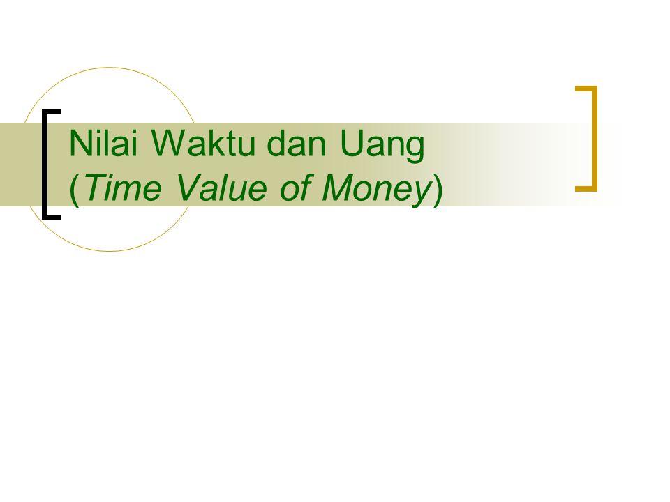 Nilai Waktu dan Uang (Time Value of Money)