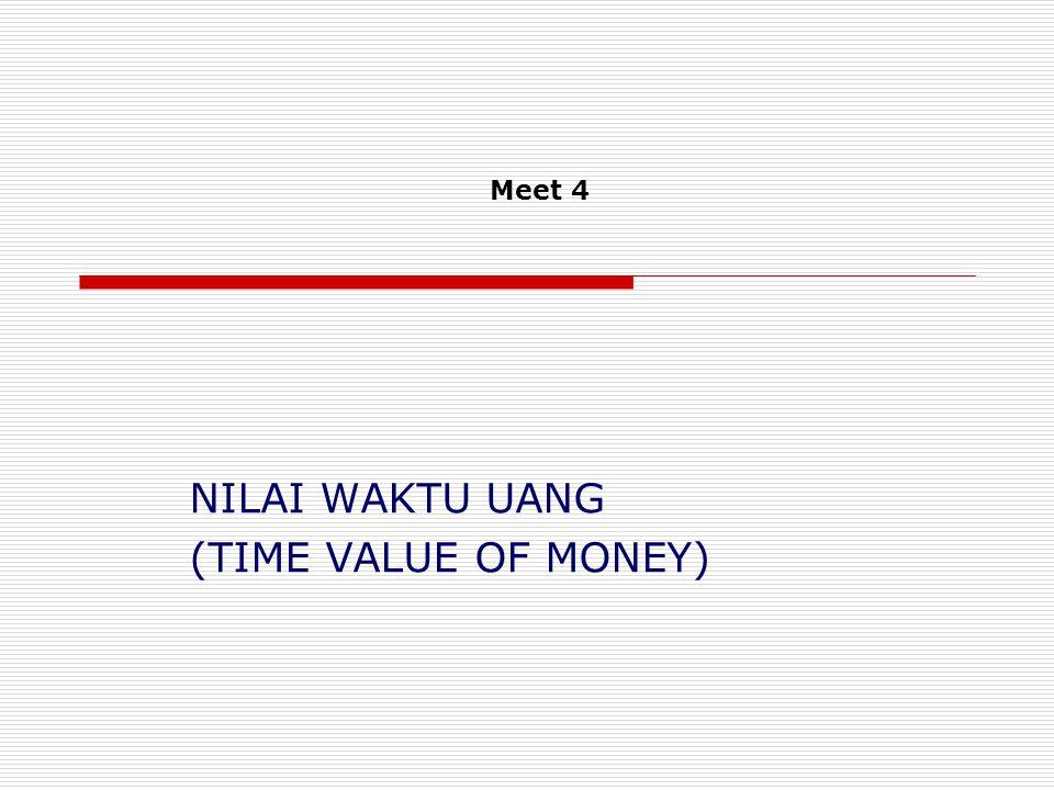 NILAI WAKTU UANG (TIME VALUE OF MONEY) Meet 4