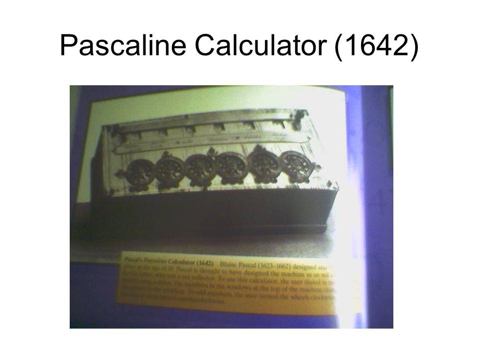 Pascaline Calculator (1642)