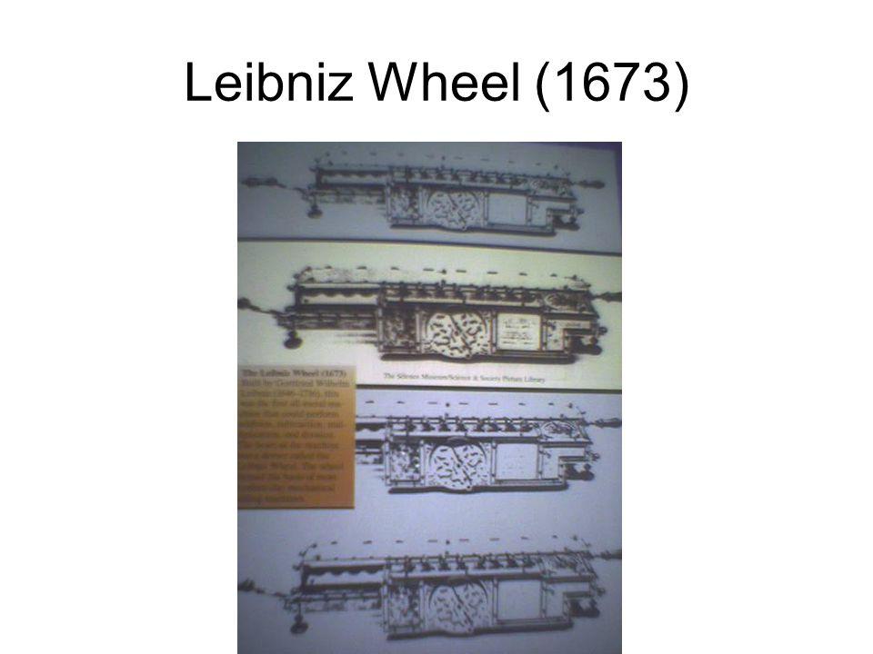 Leibniz Wheel (1673)