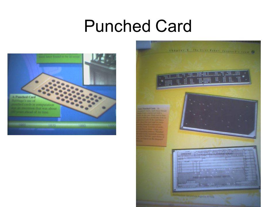 IBM •Kebutuhan sensus •Herman Hollerith •Menggunakan punched card •Menang kompetisi (5,5 jam vs 44 jam) •Menyelesaikan perhitungan sensus dalam 6 minggu