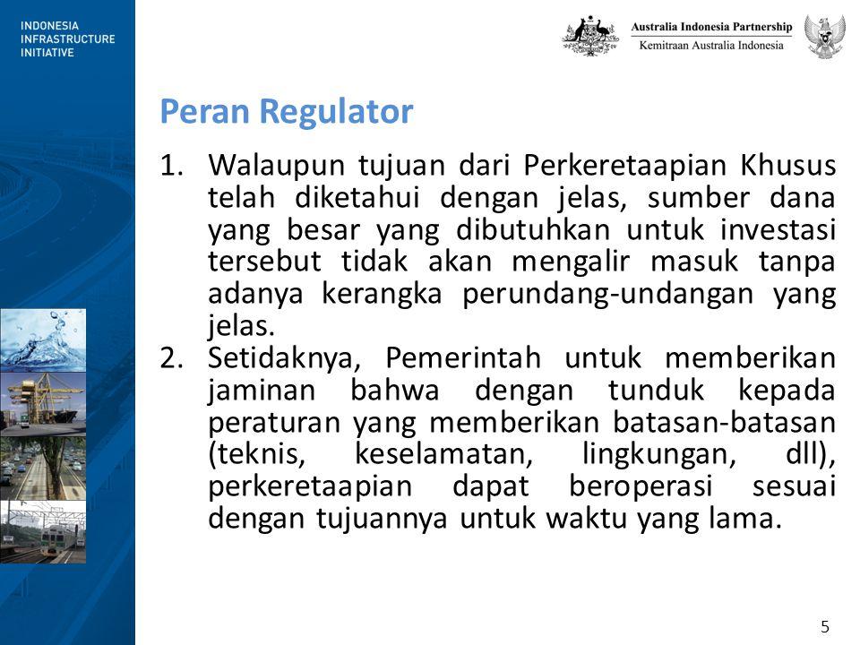 16 Dasar Alasan Mempertahankan Pengaturan titik ke titik Terdapat perbedaan pendapat di dalam Kementerian Perhubungan mengenai apakah peraturan Titik ke Titik membatasi atau memperluas Undang-undang Perkeretaapian.