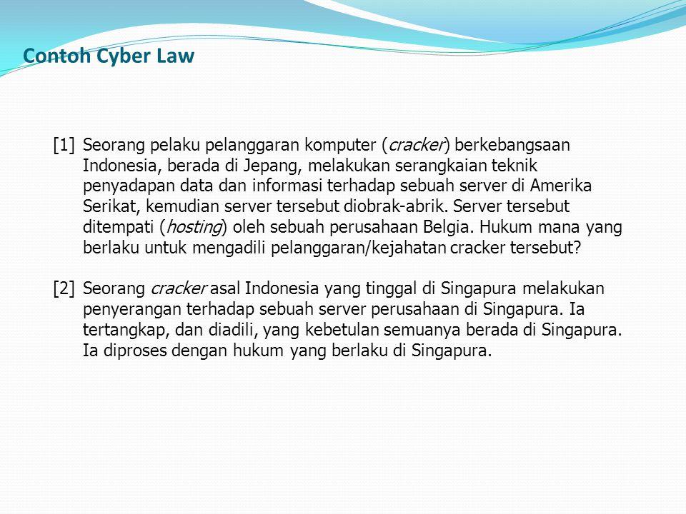 [1] Seorang pelaku pelanggaran komputer (cracker) berkebangsaan Indonesia, berada di Jepang, melakukan serangkaian teknik penyadapan data dan informas