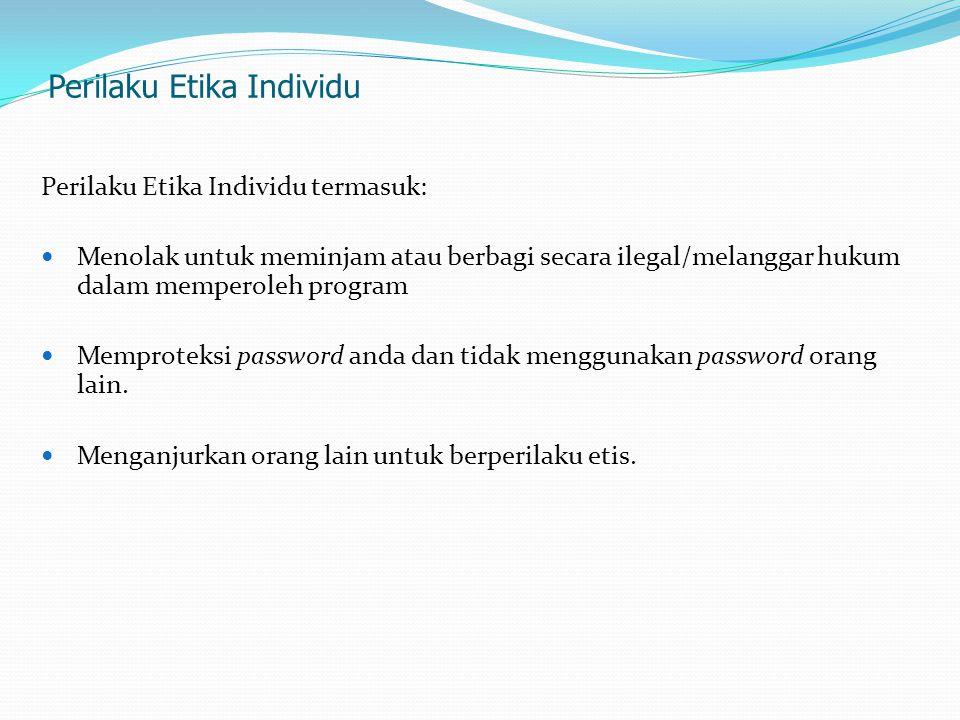 Apa Etika Jaringan .