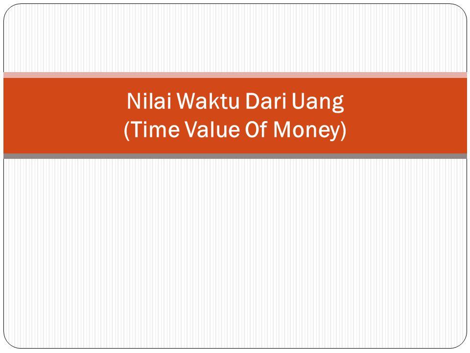 Nilai Waktu Dari Uang (Time Value Of Money)