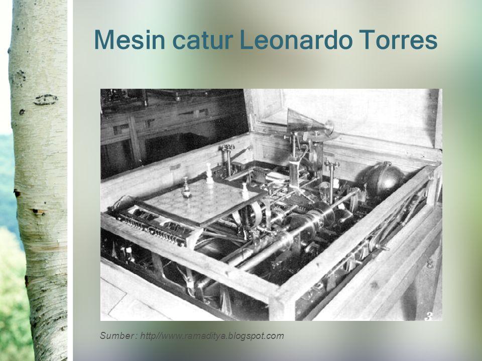 Mesin catur Leonardo Torres Sumber : http//www.ramaditya.blogspot.com