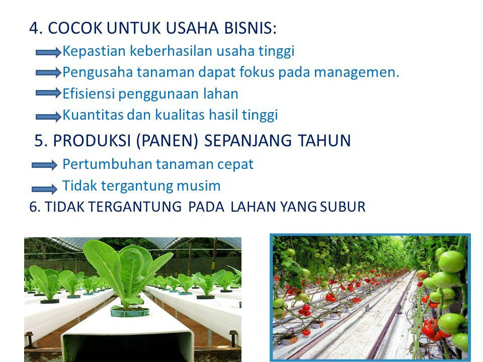 4. COCOK UNTUK USAHA BISNIS: Kepastian keberhasilan usaha tinggi Pengusaha tanaman dapat fokus pada managemen. Efisiensi penggunaan lahan Kuantitas da