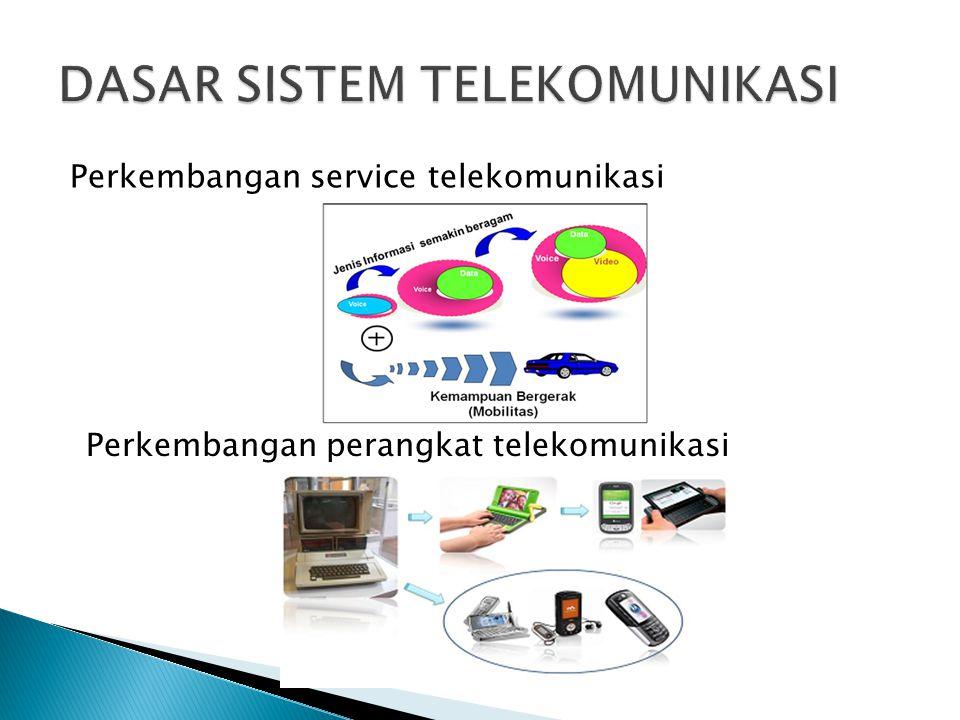 Perkembangan service telekomunikasi Perkembangan perangkat telekomunikasi