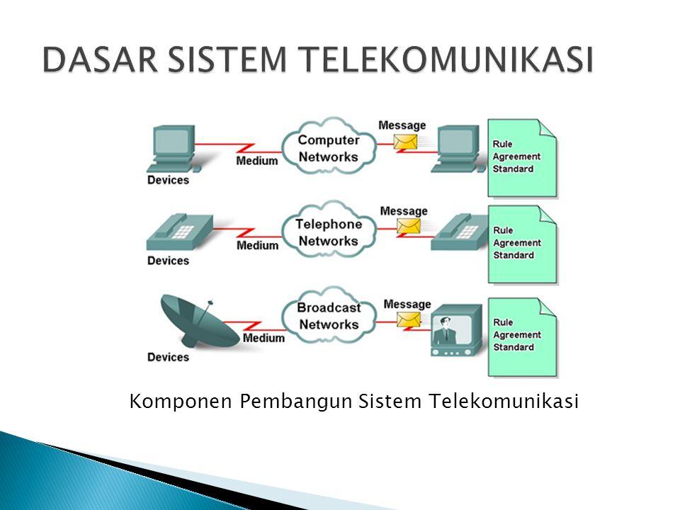 Komponen Pembangun Sistem Telekomunikasi