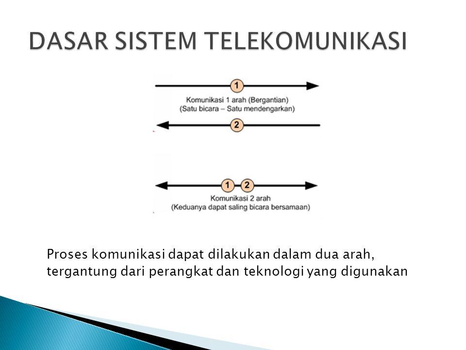 Proses komunikasi dapat dilakukan dalam dua arah, tergantung dari perangkat dan teknologi yang digunakan