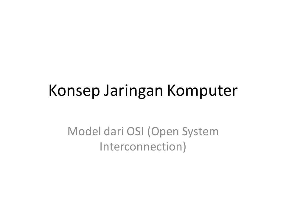 Konsep Jaringan Komputer Model dari OSI (Open System Interconnection)