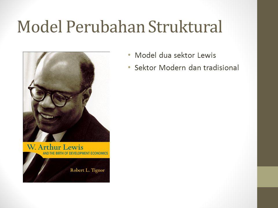 Model Perubahan Struktural • Model dua sektor Lewis • Sektor Modern dan tradisional
