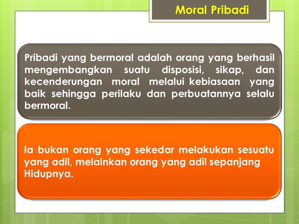 Perilaku moral Individu Contoh NegatifPositif