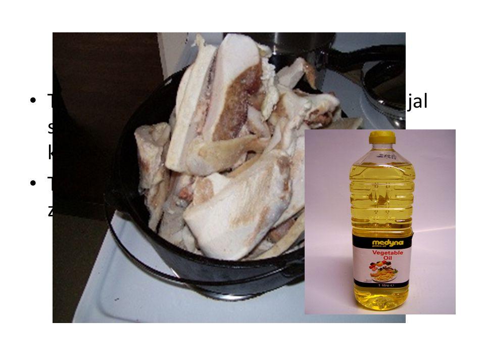 id •T•Tristearin, komponen utama dr lemak ginjal sapi. Padatan putih berlemak pada suhu kamar •T•Triolein, komponen utama minyak olive/ zaitun