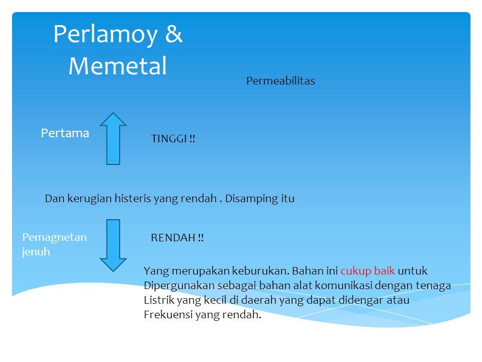 Perlamoy & Memetal Pertama Permeabilitas TINGGI !.