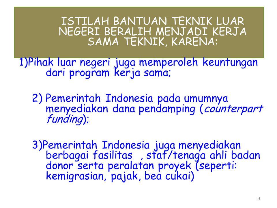 4 TUJUAN KERJA SAMA TEKNIK LUAR NEGERI ● Meningkatkan kemampuan dan keterampilan SDM melalui alih teknologi dan pengetahuan dari pihak asing kepada tenaga/lembaga Indonesia.