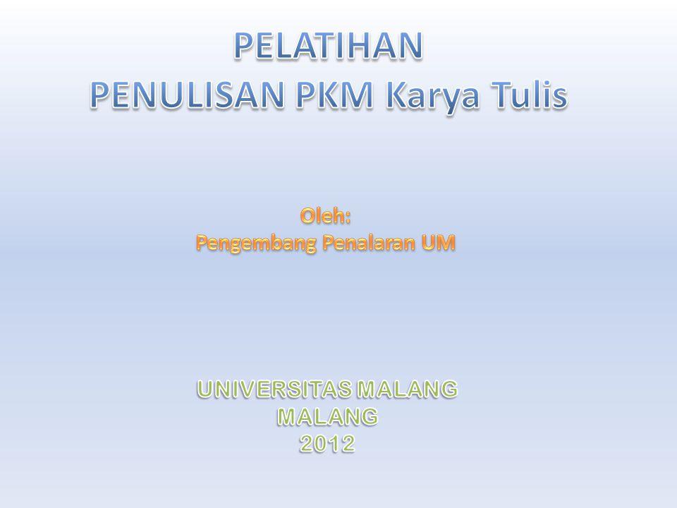 Kreativitas Mahasiswa PKMP PKMT PKMM PKMK PKMKC PKM-GT PIMNAS e-Proceeding PKM-AI e-Jurnal Jurnal ilmiah terakreditasi ( Rekomendasi DP2M )