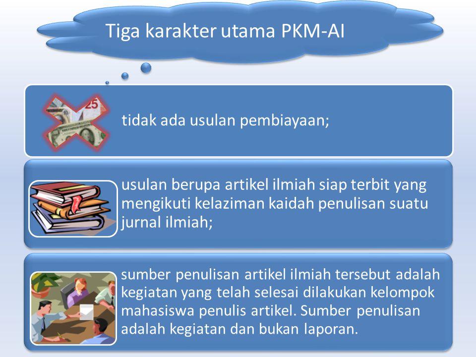 Tulisan /naskah bersumber dari Praktek Lapang, Kuliah Kerja Nyata, Magang Penelitian Studi Kasus Kelompok dalam rangka Tugas Khusus Mata Kuliah tertentu, Kegiatan PKM-P, PKM-T, PKM-K, PKM-M PKM-KC Penelitian Inovatif