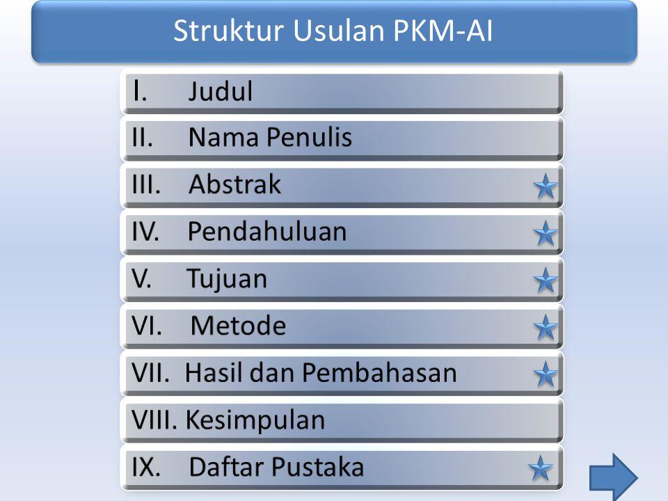 Struktur Usulan PKM-AI