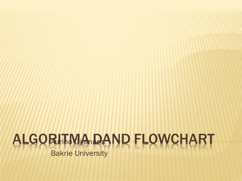  Flowchart: Gambarkan flowchart dari algoritma di atas? aurinodjamaris