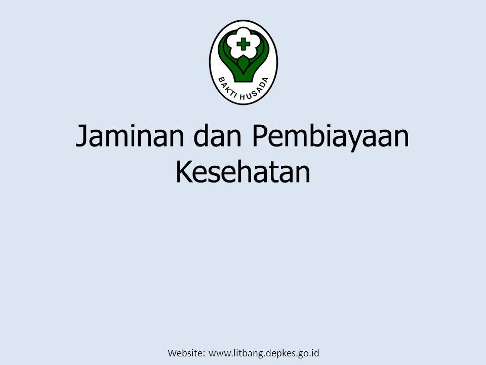 Website: www.litbang.depkes.go.id Jaminan dan Pembiayaan Kesehatan