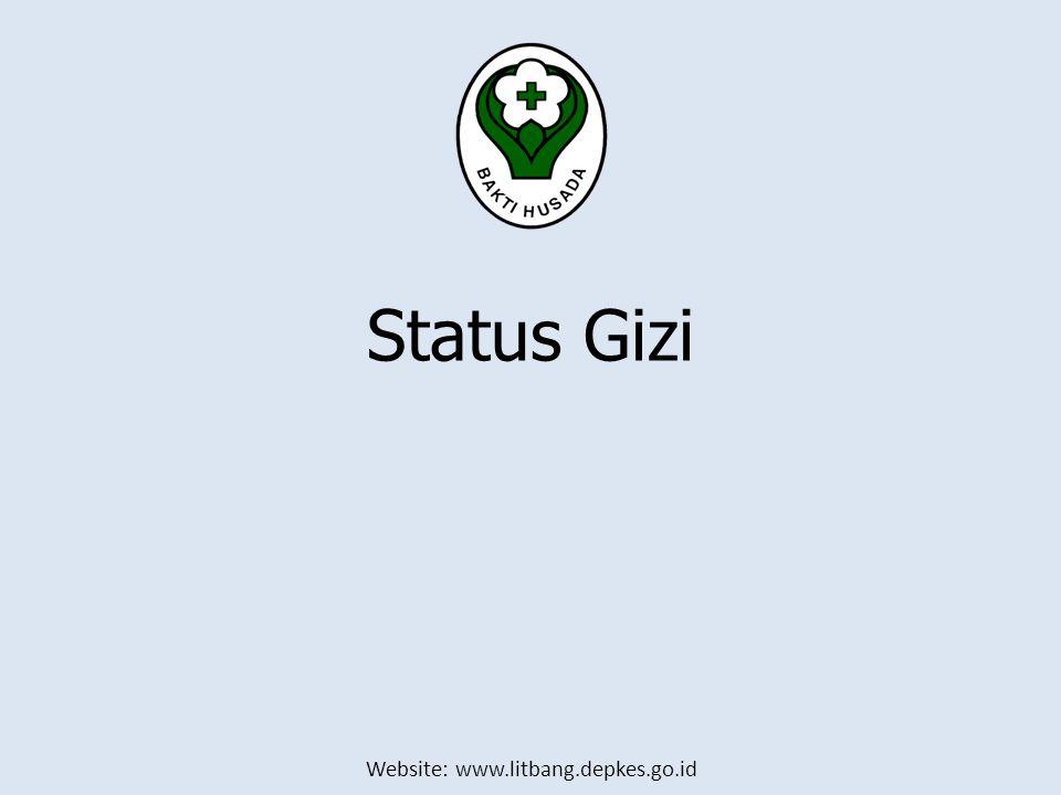 Website: www.litbang.depkes.go.id Status Gizi