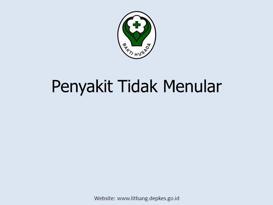 Website: www.litbang.depkes.go.id Penyakit Tidak Menular