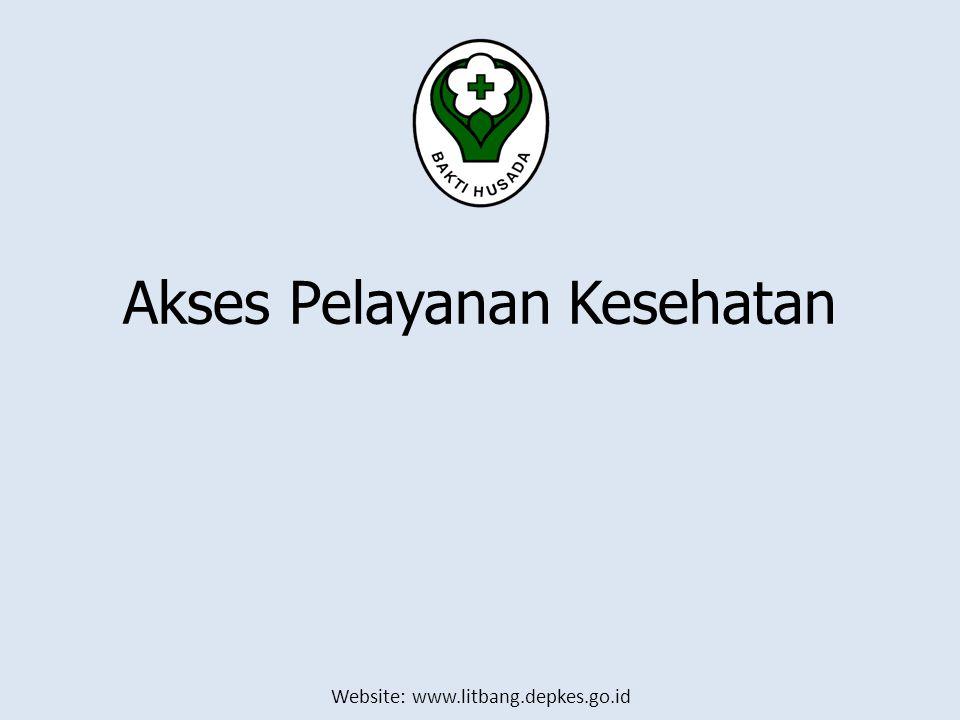 Website: www.litbang.depkes.go.id Akses Pelayanan Kesehatan