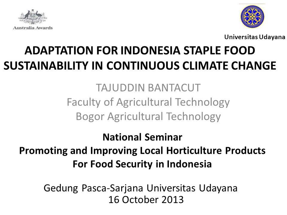 BOGOR AGRICULTURAL UNIVERSITY FACULTY OF AGRICULTURAL TECHNOLOGY IPB Campus Dramaga Bogor - INDONESIA 16002 TAJUDDIN BANTACUT Agro - industrial Technologist Environmental Engineer ( Regional ) Development Planner Phone: +62-811-113-851; Fax: +62-251-8623-203 Email : tajuddin@ipb.ac.id; bantacuttajuddin@gmail.comtajuddin@ipb.ac.idbantacuttajuddin@gmail.com