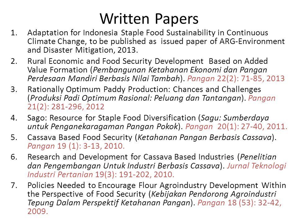 CaseYear Total Damage (ha) CausesSource Aceh 20131,538Flood Waspada Online (Local News Paper) East Java 2011125,000leafhoppers Kompas 26-7-2011 20136,655Flood Actual.co 15-8-2013 2013659Flood Bisnis Indonesia 15- 3-2013 West Sumatera 20132,200Flood damaged dam Okezom.com 11 January 2013 Banten 201210,452Drought Tempo.co 26-11-2012 South Sumatera 2013 280 Flood Sumatera Ekpres Online (10-4-2013) West Java 2012 97 Drought Pikiran Rakyat (31-8- 2012) West Nusatengg ara 2012 2,928 DroughtMICOM 18-9-2012 Table 1.