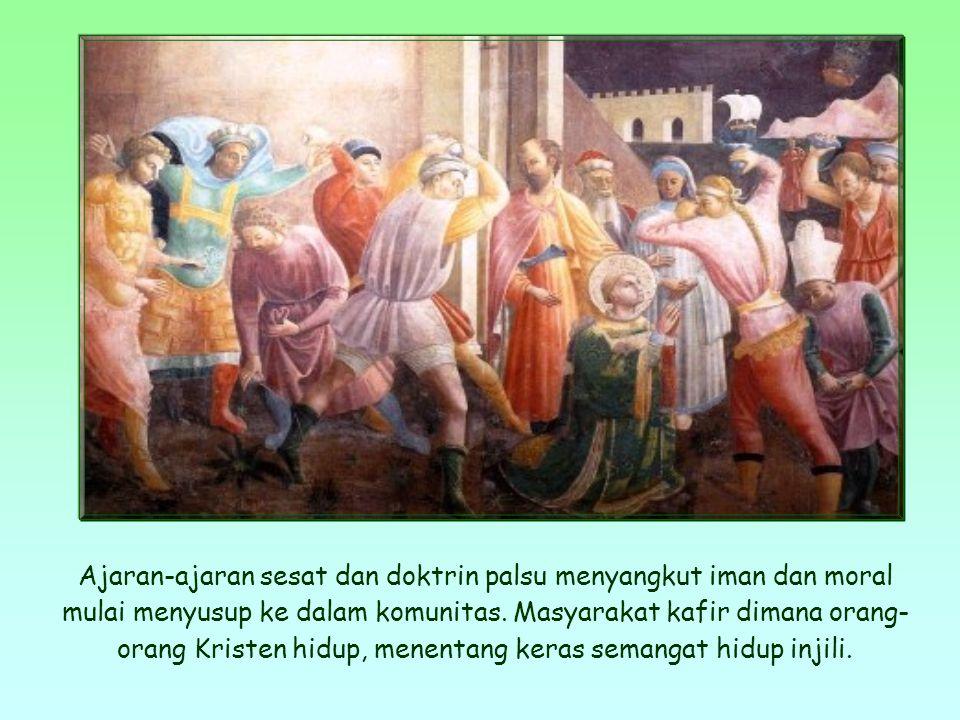 Kalimat ini diambil dari surat rasul Yohanes kepada komunitas-komunitas kristiani yang dia dirikan.