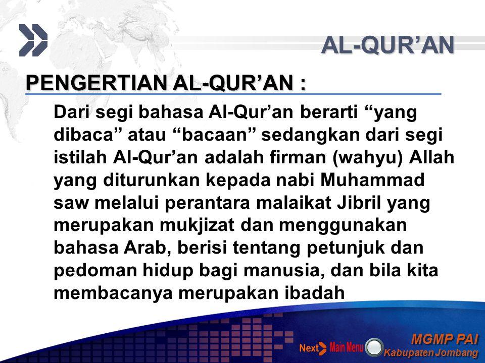 MGMP PAI Kabupaten Jombang MGMP PAI Kabupaten Jombang Your Text SUMBER HUKUM ISLAM AL-QUR'AN HADITS IJTIHAD MACAM-MACAM HUKUM ISLAM HUKUM ISLAM Al-Qur'an sebagai sumber utama hukum Islam Al-Hadis Sebagai Sumber Kedua Hukum Islam Ijtihad merupakan salah satu kunci dinamika hukum Islam Ulama' ushul fiqih membagi hukum menjadi dua bagian besar, yaitu hukum taklifi dan hukum wad'i