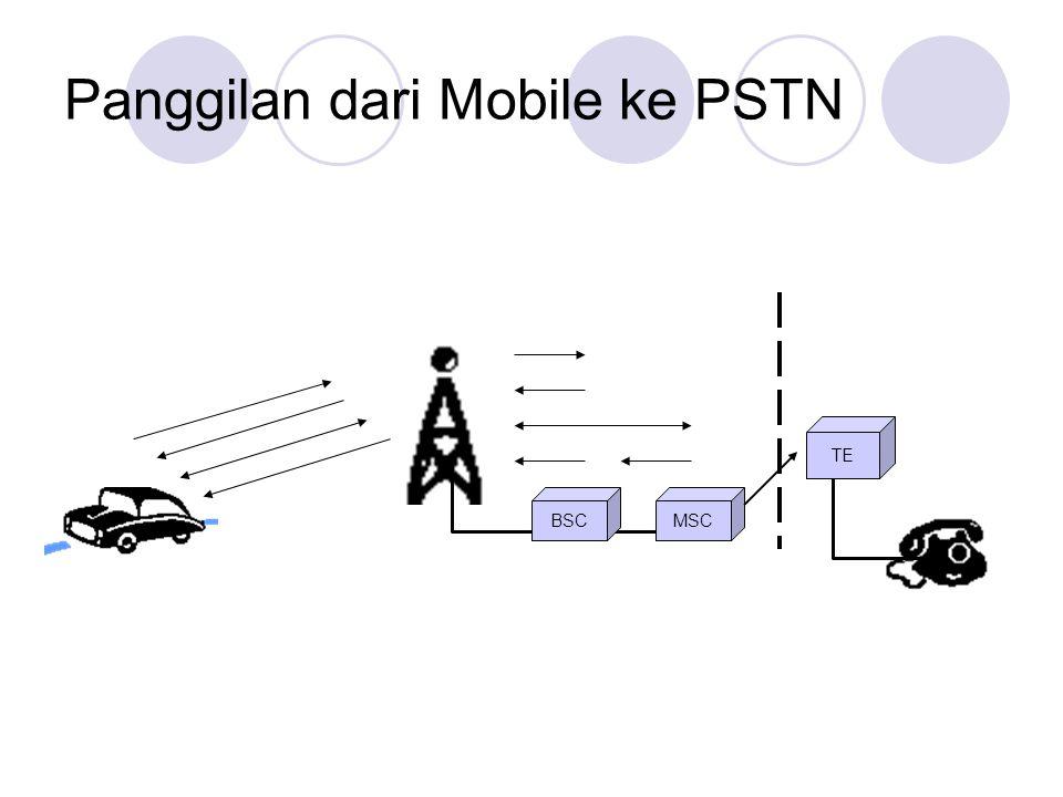 Panggilan dari Mobile ke PSTN TE BSCMSC