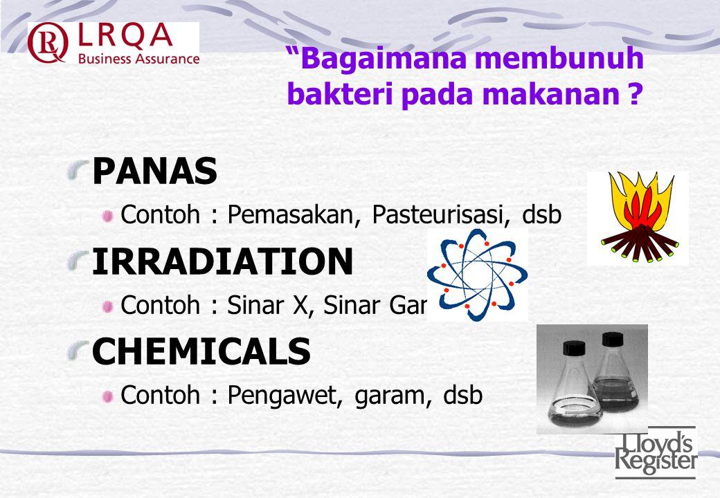 Kondisi untuk pertumbuhan bakteri Makanan Suhu Waktu Air