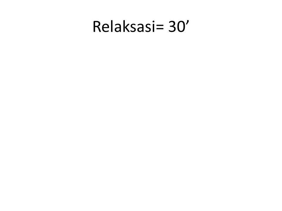 Relaksasi= 30'