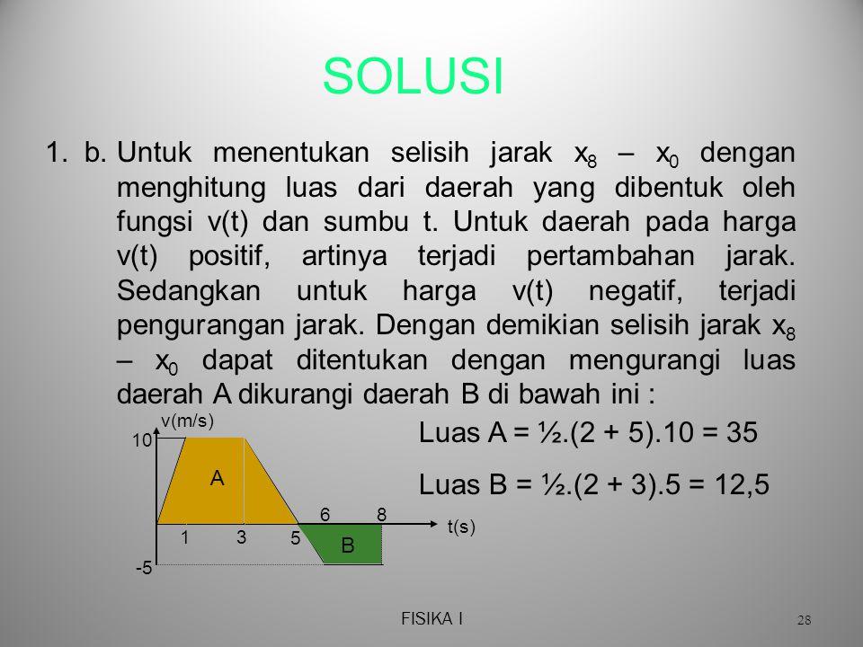 FISIKA I 28 SOLUSI 1.b.