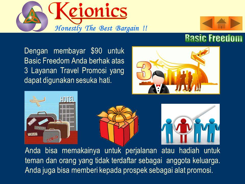 Program Basic Freedom adalah untuk Affiliate yang serius mencari Income Karir yang sesungguhnya.