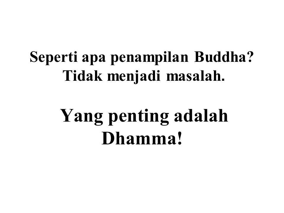 Seperti apa penampilan Buddha? Tidak menjadi masalah. Yang penting adalah Dhamma!