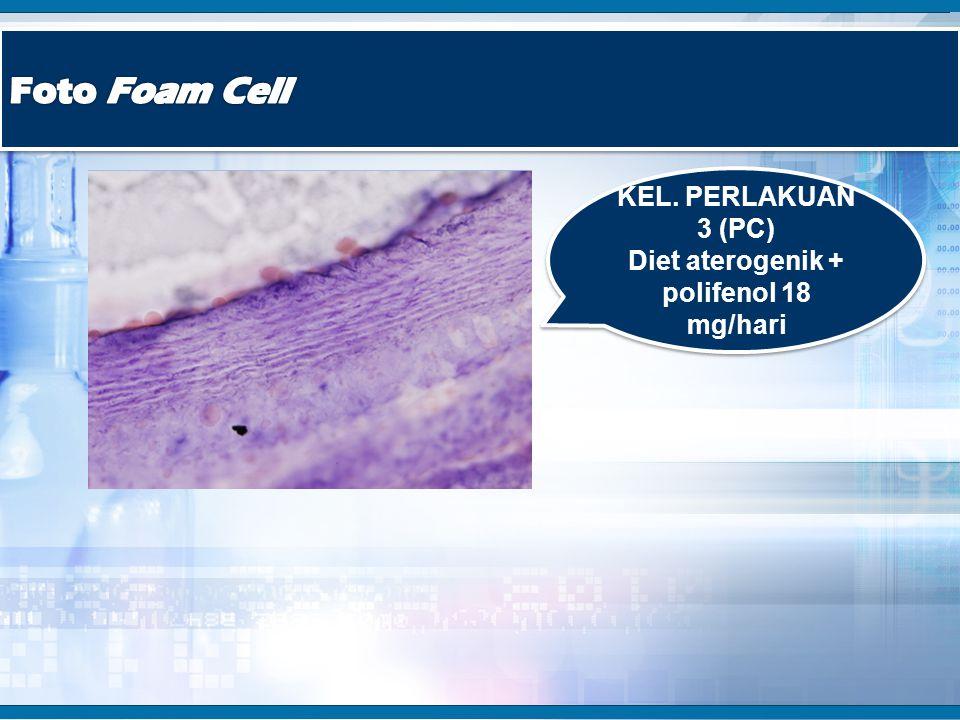 KEL. PERLAKUAN 3 (PC) Diet aterogenik + polifenol 18 mg/hari KEL. PERLAKUAN 3 (PC) Diet aterogenik + polifenol 18 mg/hari