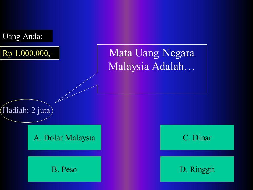 A.Dolar MalaysiaC. Dinar B. PesoD.