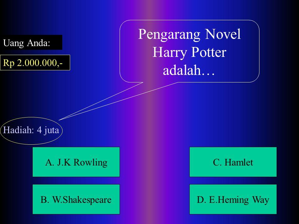 A.J.K RowlingC. Hamlet B. W.ShakespeareD.