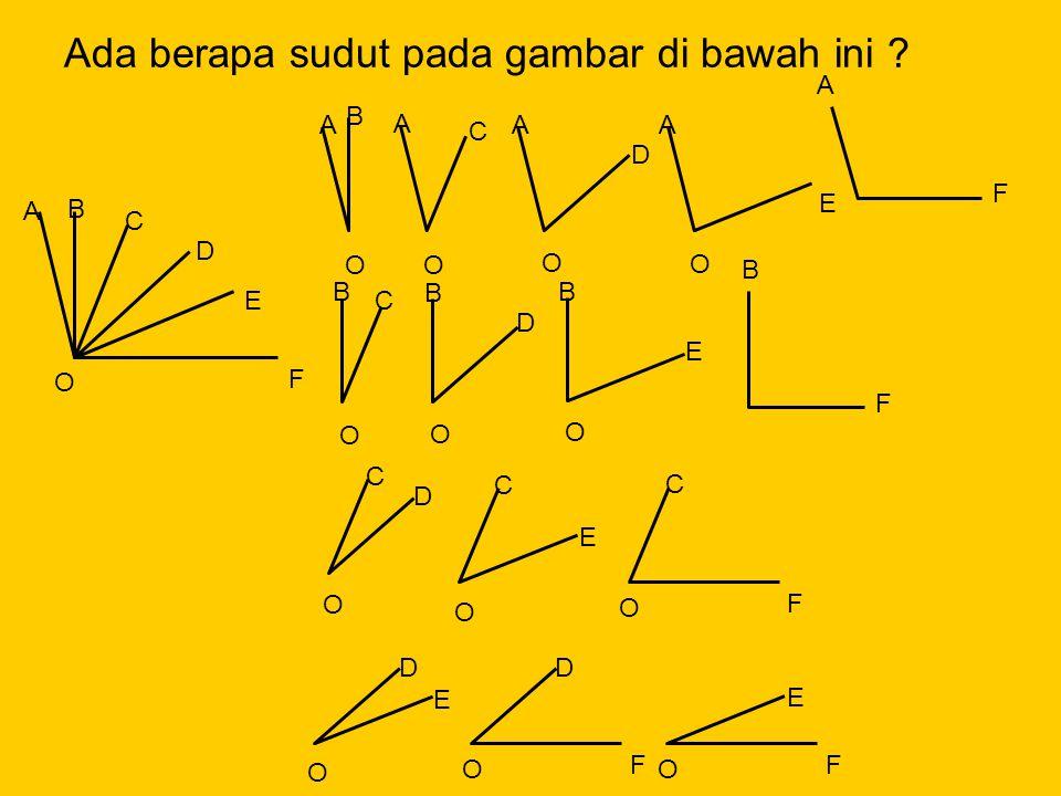 F E D C B A O O B C O B D O B E O A B O A C O A D O A E O C D O C E O C F O D E O D F O E F B F A F Ada berapa sudut pada gambar di bawah ini ?